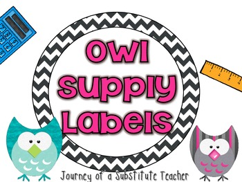 Owl Round Supply Labels