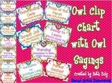 Owl Sayings Clip Chart