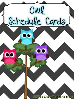 Schedule Cards- Owl Themed