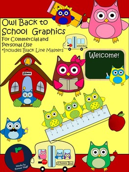 Owl School Clipart  for Personal and Commercial Use