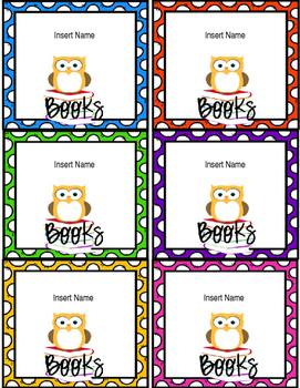 Owl School Labels {Editable}