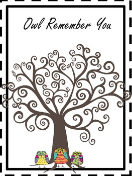 Owl See You In September, First Days of School Activity Packet