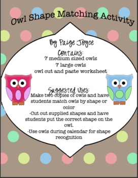 Owl Shape Match