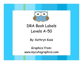 Owl Shaped DRA Leveled Book Bin Cards