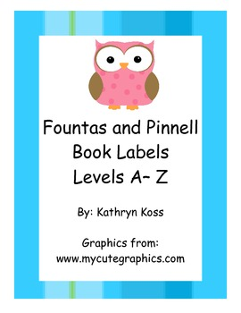 Owl Shaped Fountas & Pinnell Leveled Book Labels