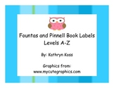 Owl Shaped Fountas and Pinnell Leveled Book Bin Cards