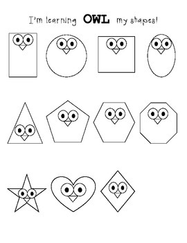 Owl Shapes Cut and Paste Activity