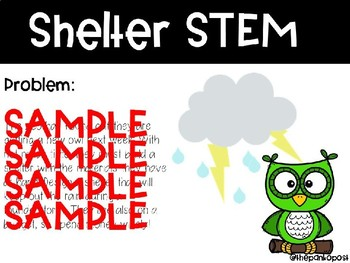 Owl Shelter STEM (editable)