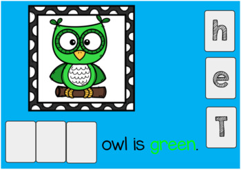 Owl Sight Word Emergent Reader Boom Cards {The}