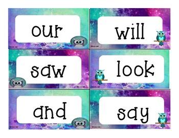 Owl Sight Word Wall