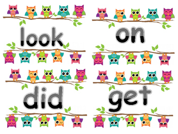 Owl Sight Words