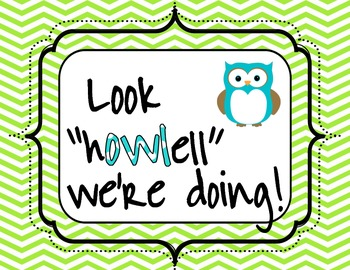 "Owl Sign - ""Look Howell We're Doing!"""