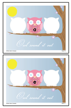 Owl Sound it Out - CVC Phonological Awareness Activities - Common Core