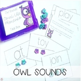 Mini Erasers Owl Sounds Count the Phonemes Task Box (Orton-Gillingham)