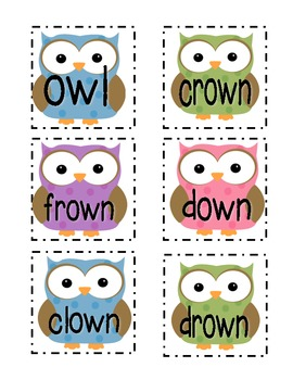 Owl Sounds! /ow/ and /ou/ word sort