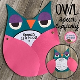 Owl Speech Therapy Craft {language & articulation fall craftivity}