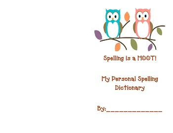 Owl Spelling Dictionary