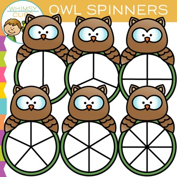 Owl Spinners Clip Art