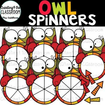 Owl Spinners Clip Art Bundle {Fall Clip Art}