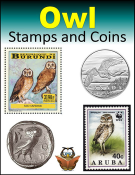 Owl Stamps and Coins