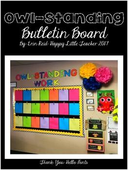 Owl-Standing Bulletin Board