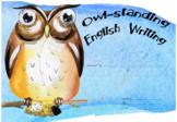 Owl-Standing English Writing