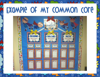 Owl-Standing Kindergarten Common Core Poster Display and I Can statements