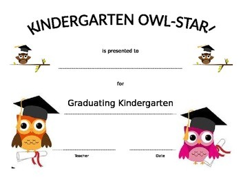 Owl-Star Graduating certificate