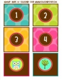 Owl Student Number Tags Classroom Decor
