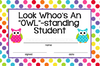 Owl Student Rewards