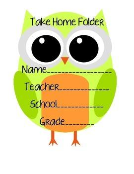 Owl Student Take Home Folder