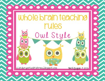 Owl Style Whole Brain Teaching Rules