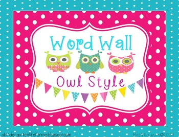 Owl Style Word Wall
