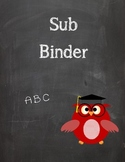 Owl Sub Binder Cover and Spine Cover