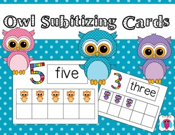 Owl Subitizing Cards from 0-10