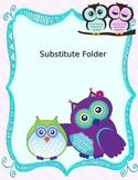 Owl Substitute Folder