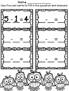 Owl Subtraction From 5