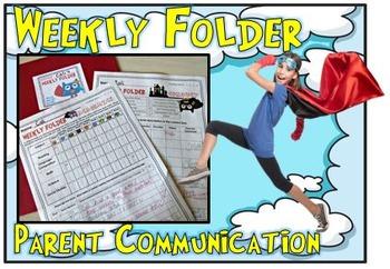 Weekly Folder- Conduct & Academics- Owl Super Heroes