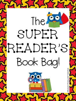 Owl Super Reader Book Bag - Owl Super Hero Themed Reading Set