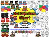 Owl Superhero Clip Art