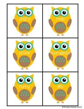 Owl Synonym Match Activity