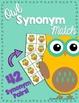 Owl Synonym and Antonym Match Activity BUNDLE