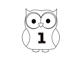 Owl Table Labels