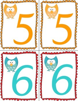 Owl Table Numbers