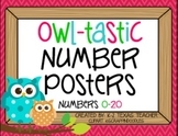 Owl Tastic Number Posters: An Owls Themed Teaching Tool Math Poster Set
