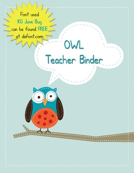 Teacher Binder - Owl