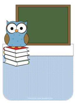 Owl Teacher Binder Set