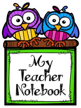 Owl Teacher Notebook. Binder. Planner Arc. Spiral Bound. Lesson Plan. Gradebook