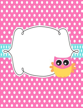 Owl Teacher planner/binder