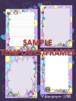 Owl Templates/Frames Portrait Format